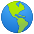 Globe Showing Americas on Google Android 11.0