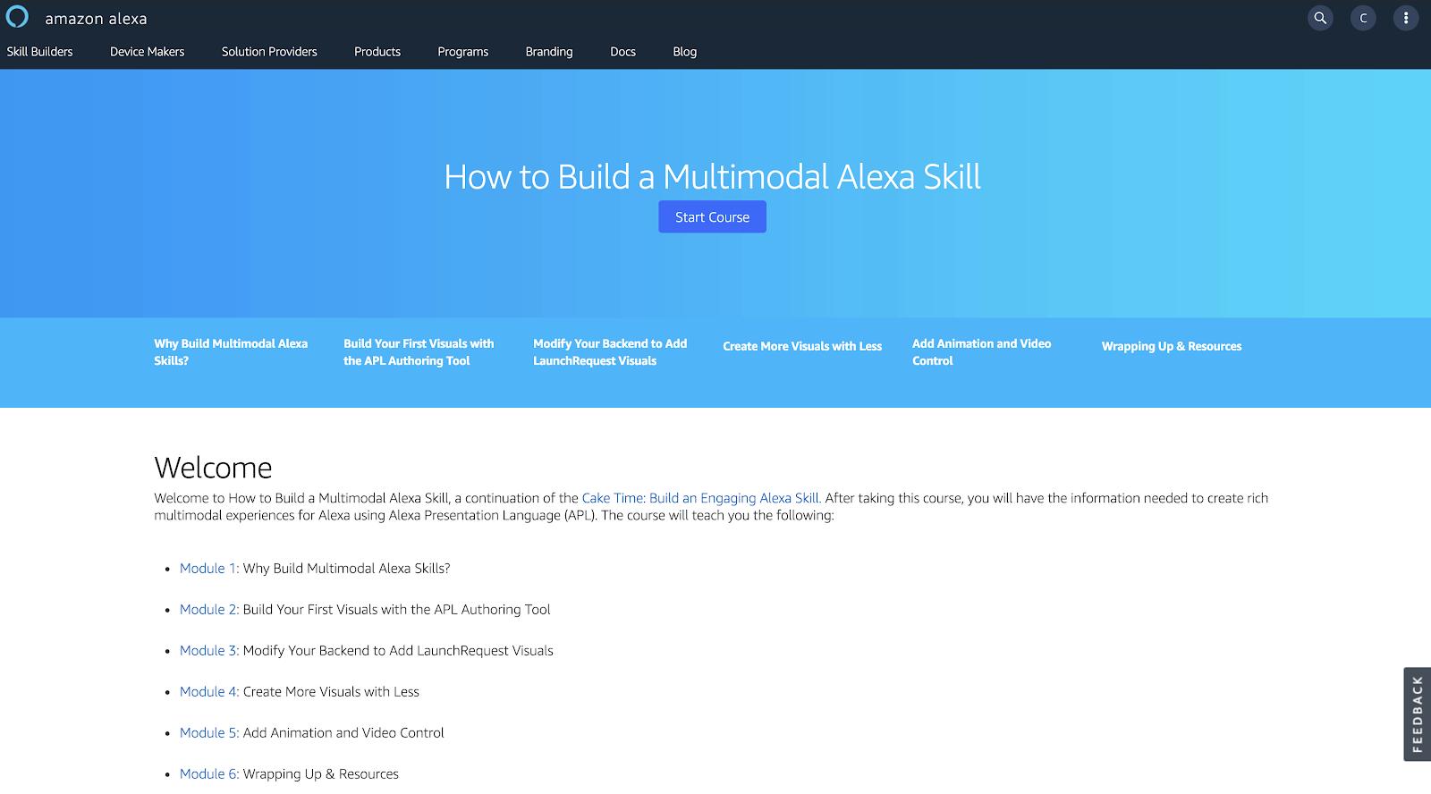 Amazon Alexa Documentation: How to Build a Multimodal Alexa Skill