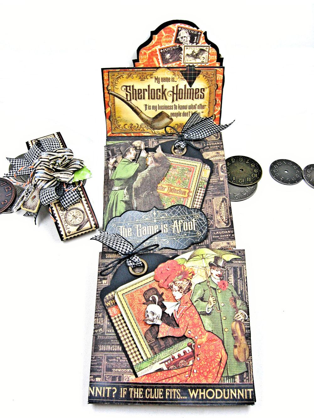 Master Detective, Graphic 45, Wallet Mini Album , Kathy Clement.jpg