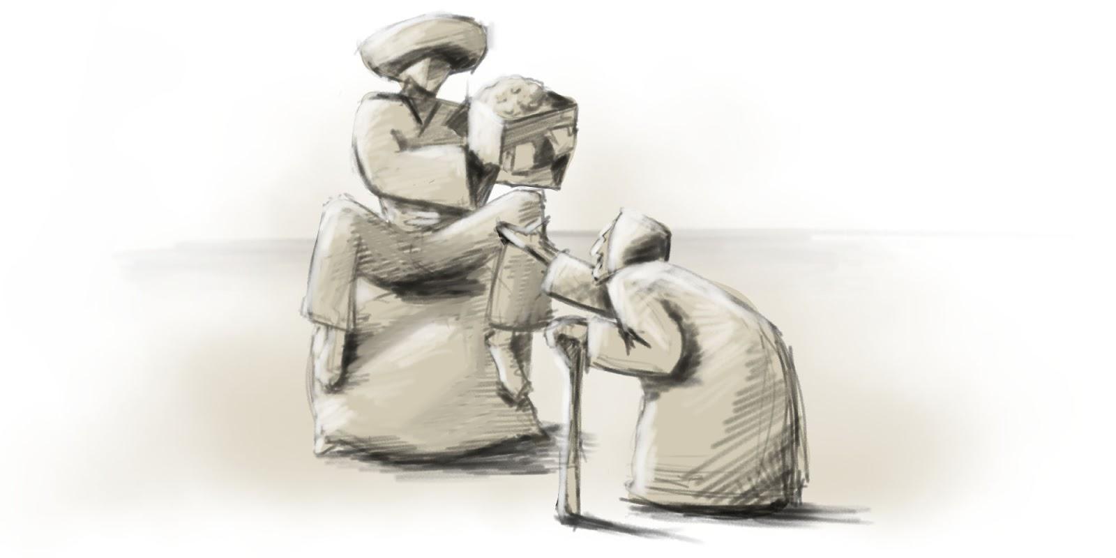 Hrdina sa o svoj poklad delí so starenkou.