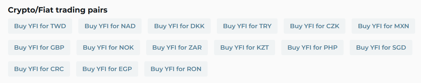 How to buy YFI for fiat