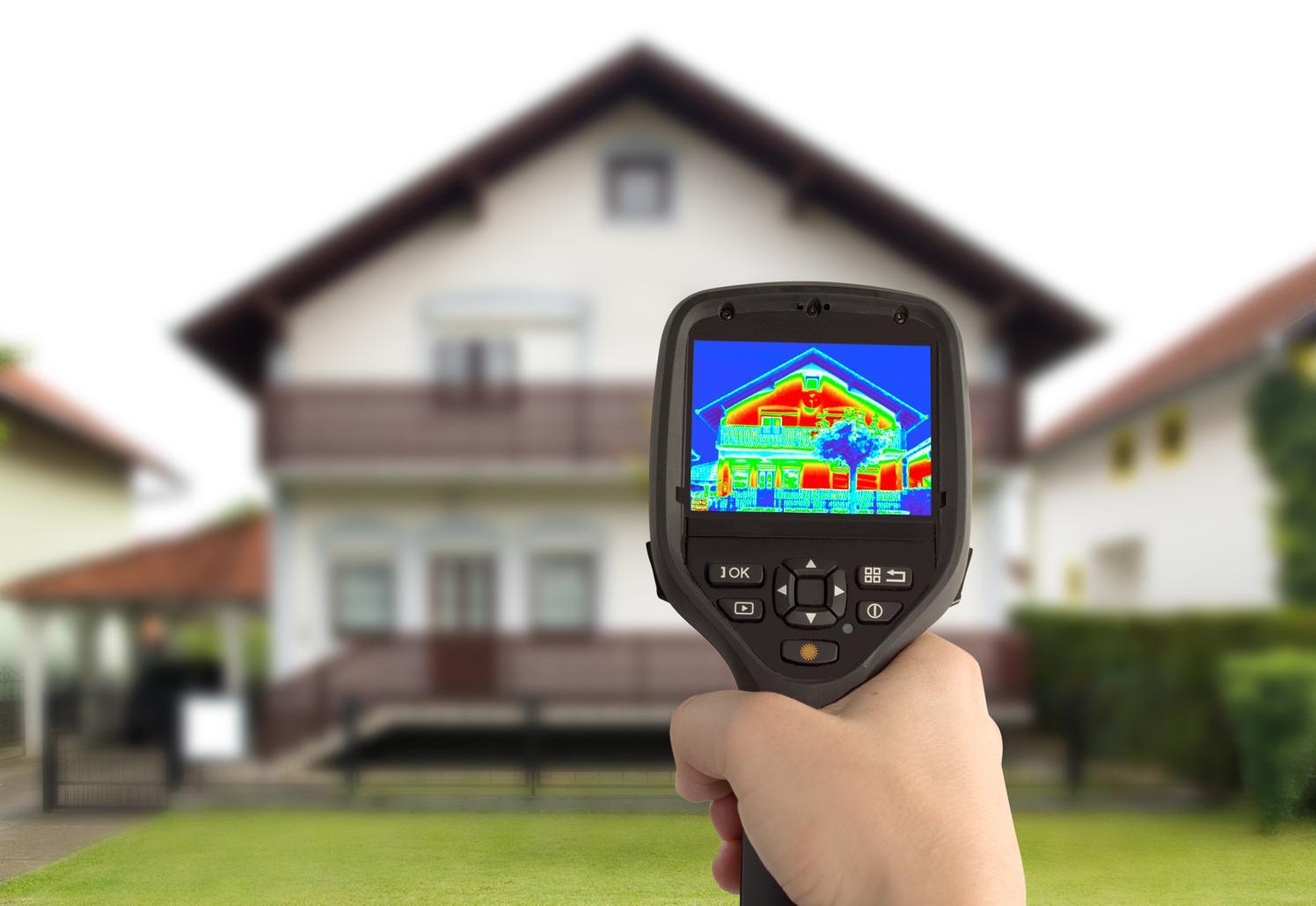 Прибор для измерения эффективности стен дома или квартиры (Тепловизор)
