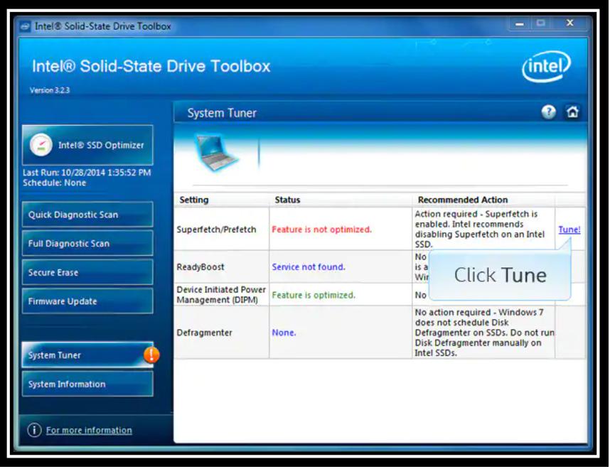 Intel SSD Toolbox image