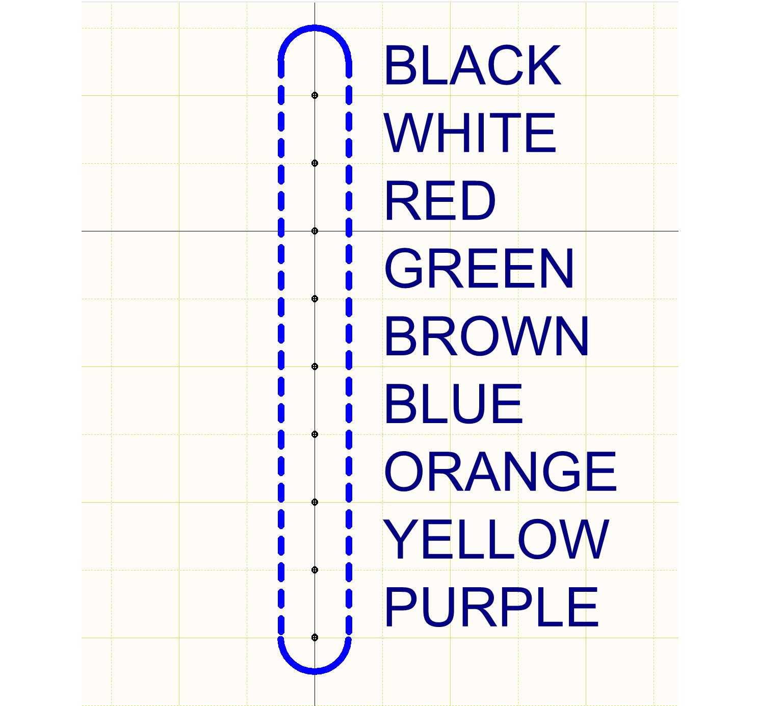 Figura 7: Símbolo esquemático de un diseño de cableado