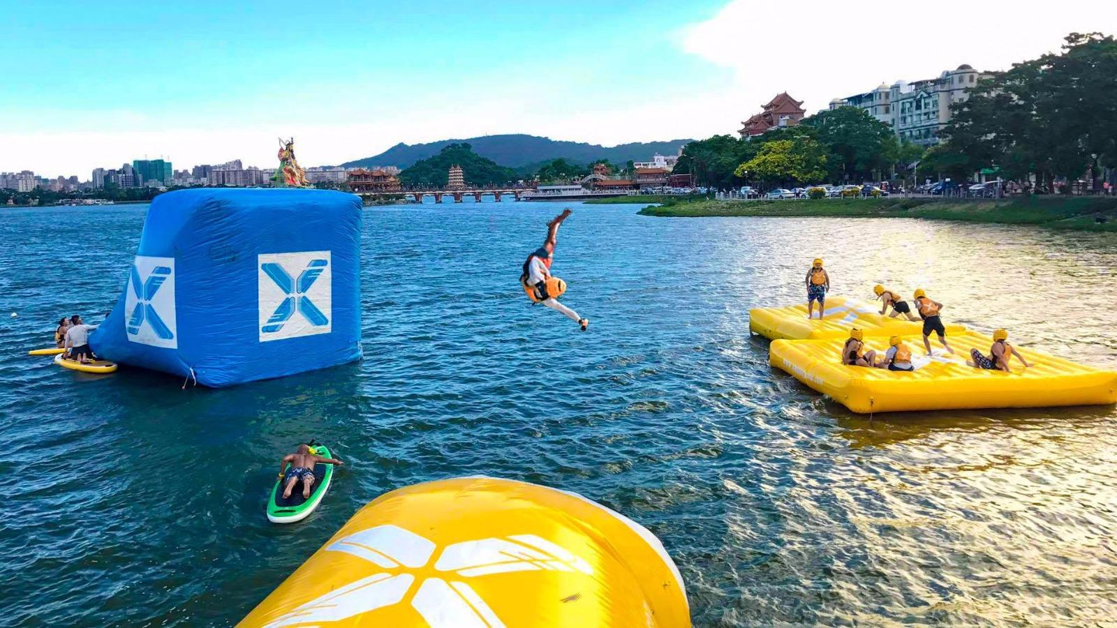 水上彈跳X水上活動新玩法