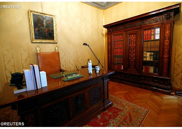 Pope's private office is pictured in Castel Gandolfo, near Rome - REUTERS