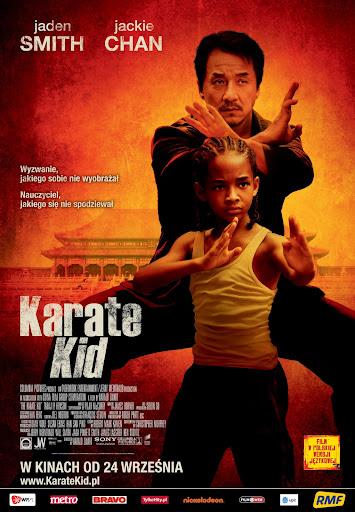 Polski plakat filmu 'Karate Kid'