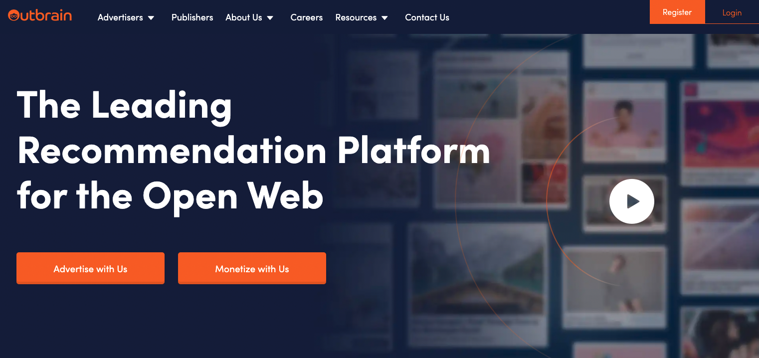 video landing page examples outbrain