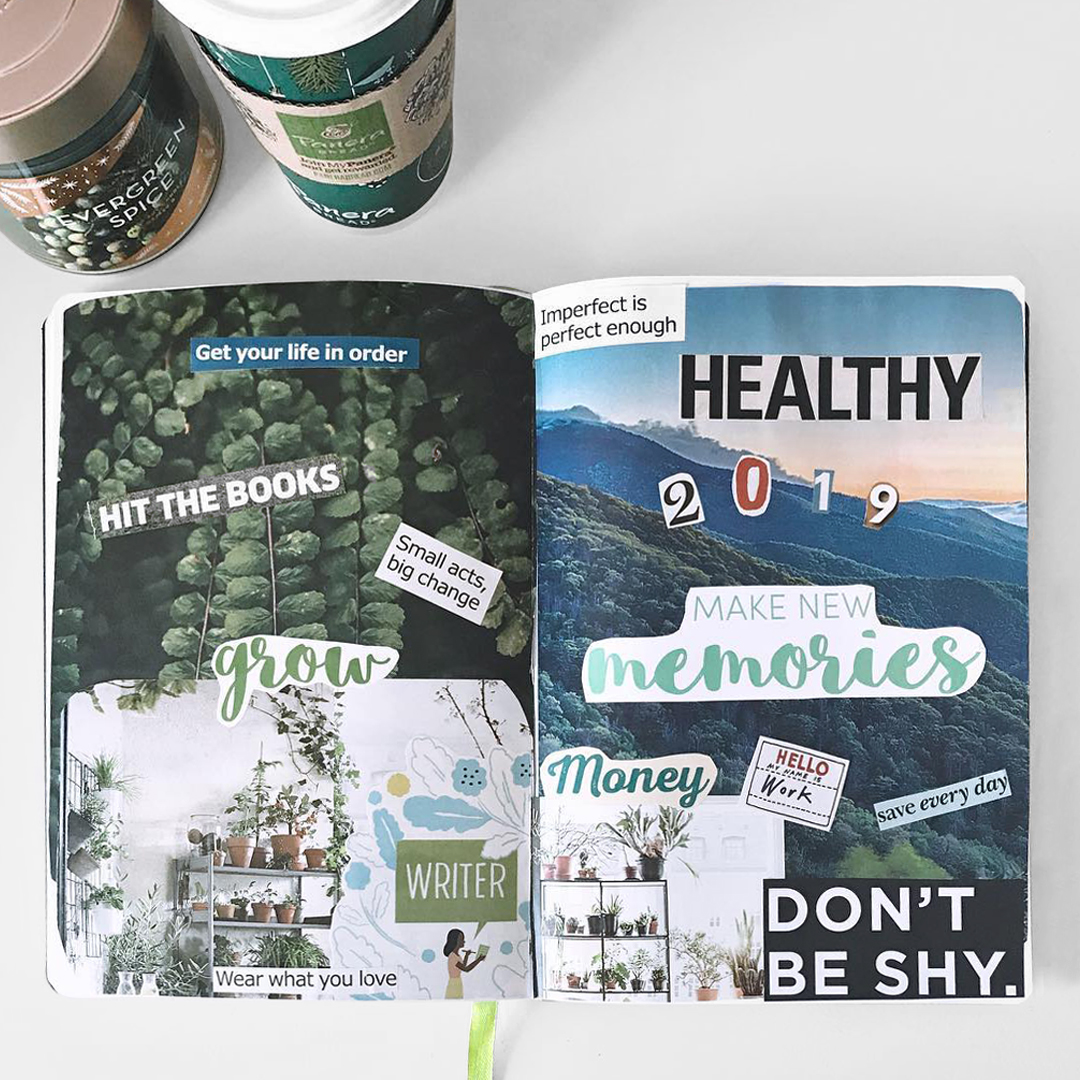 Vision Board in Passion Planner Back Pages
