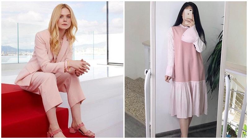 Màu hồng phấn màu xu hướng thời trang mới