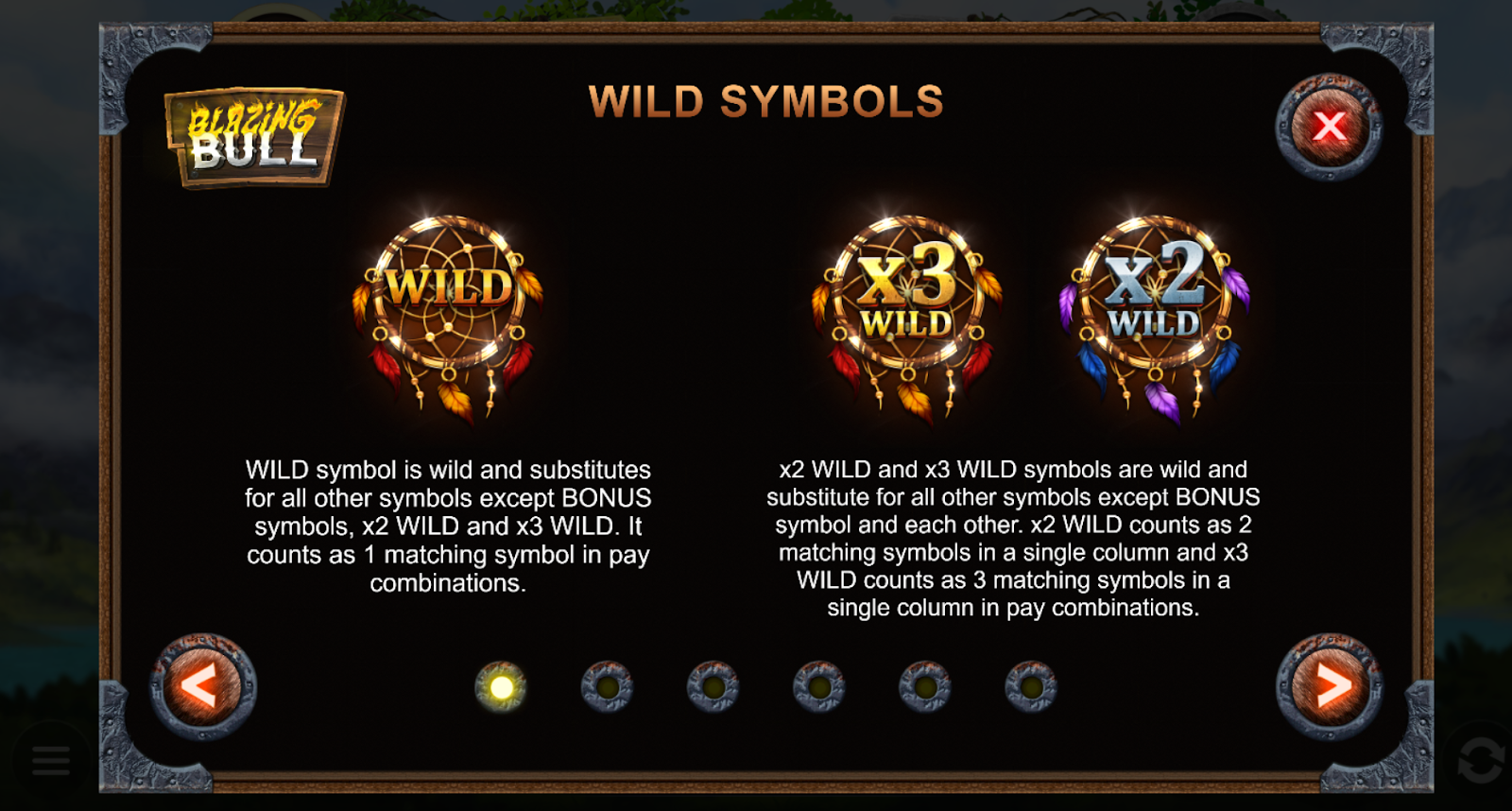 Blazing Bull is a video slot game that has some wild symbols