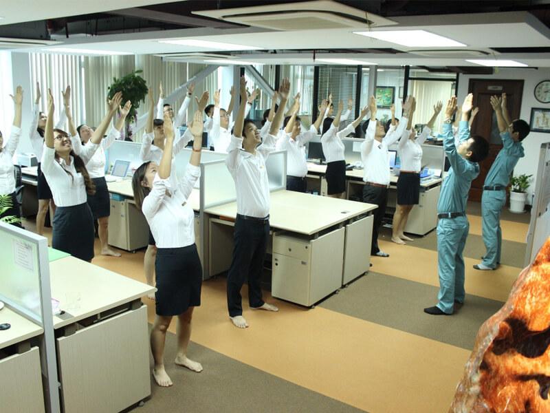 tập thể dục tại văn phòng