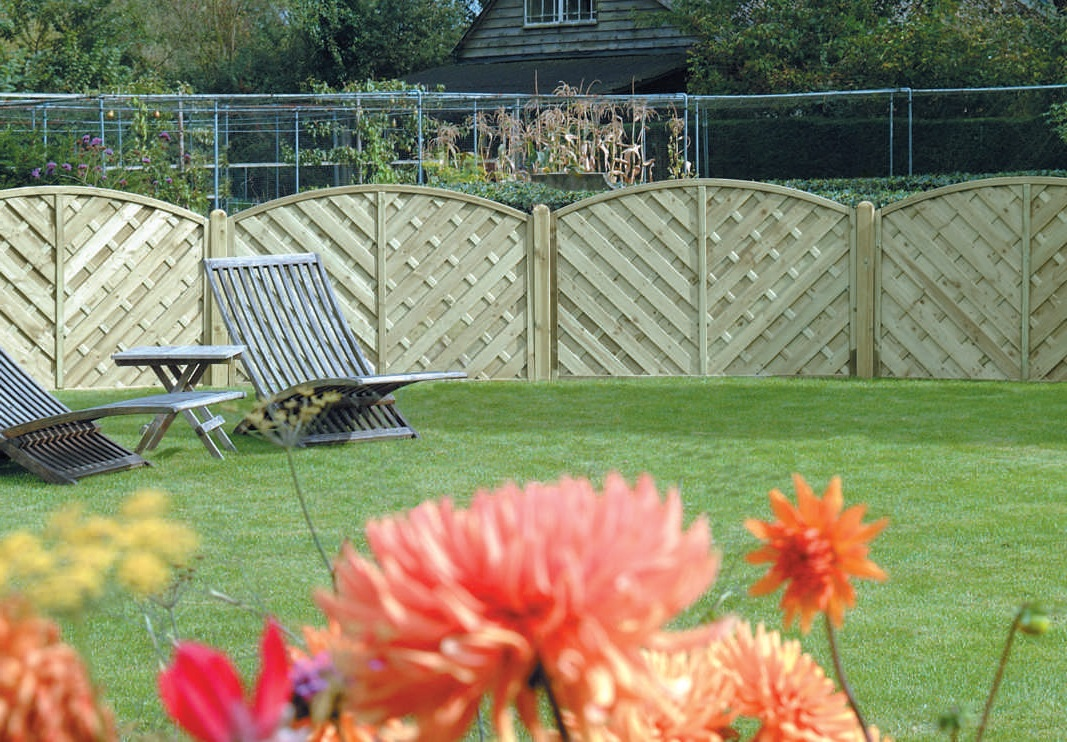V Shaped Fencing Panels for Garden