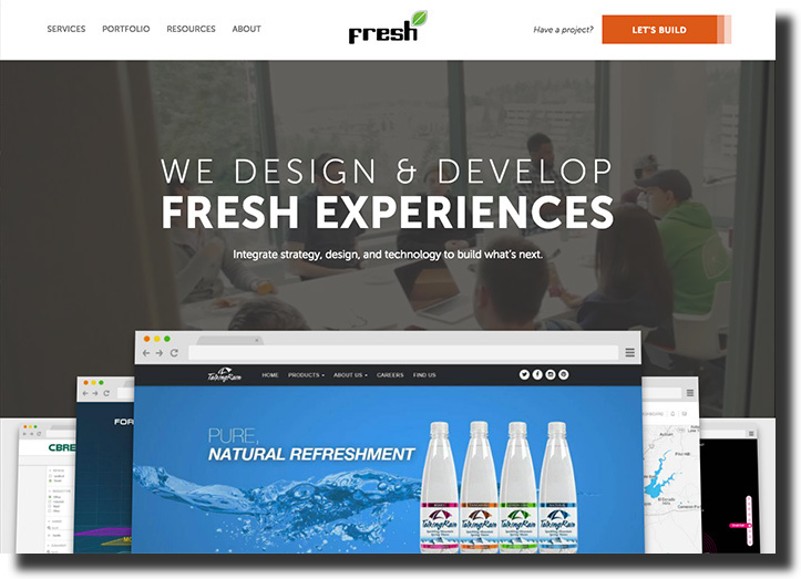Fresh website features