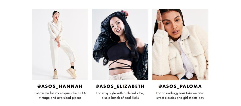 Chiến dịch Influencer Marketing của ASOS có quy mô rất lớn (Ảnh: wearisma.com)