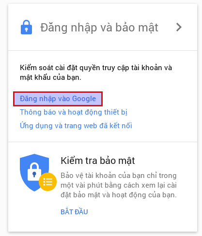 Kích họat xác minh hai lớp cho tài khoản Google