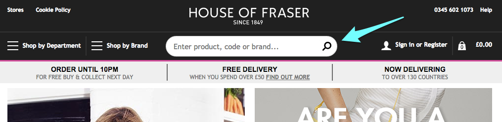 house of fraser header
