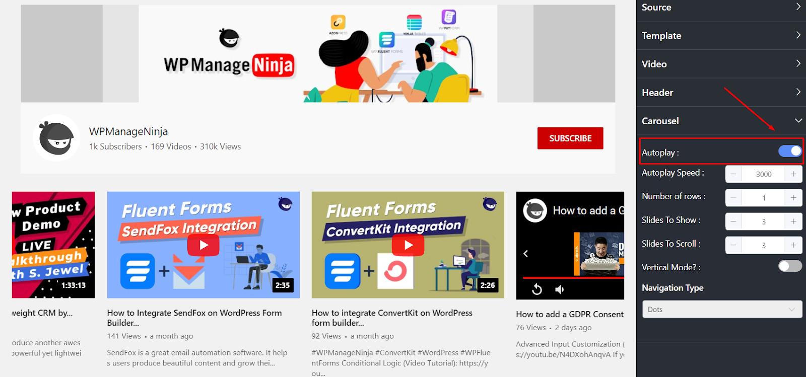 youtube feed autoplay