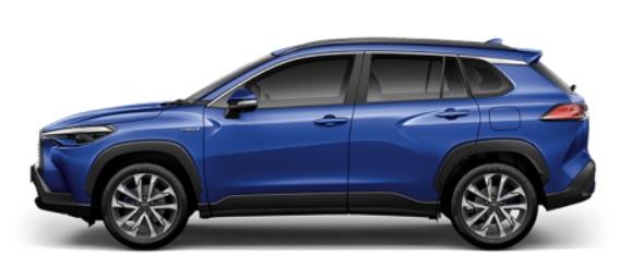 รถยนต์ Toyota Corolla Cross สีน้ำเงิน Nebula Blue