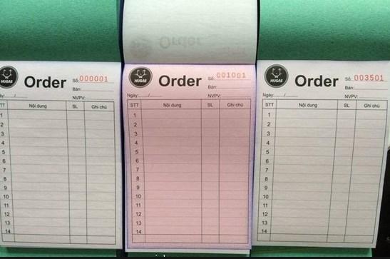 Sổ order in theo yêu cầu