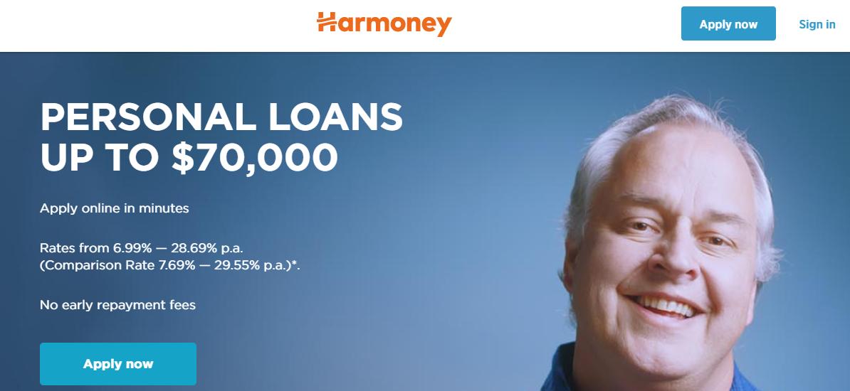 harmoney loans application form