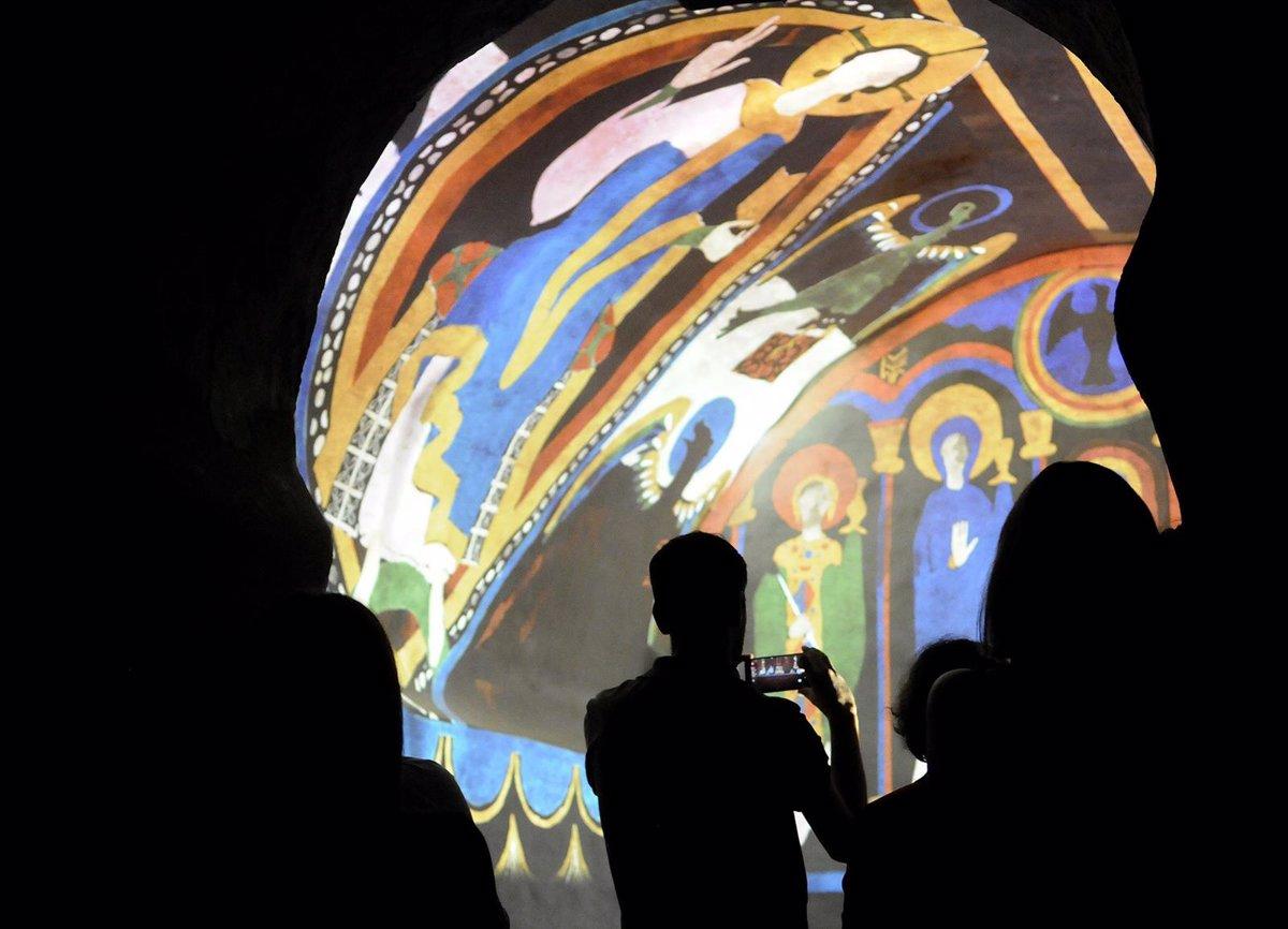 Video mapping en la iglesia de Santa Coloma de Andorra