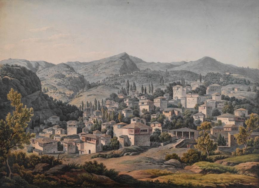 Το χωριό Πορταριά στους πρόποδες του Πηλίου, μετά το 1805 /  The Packard Humanities Institute
