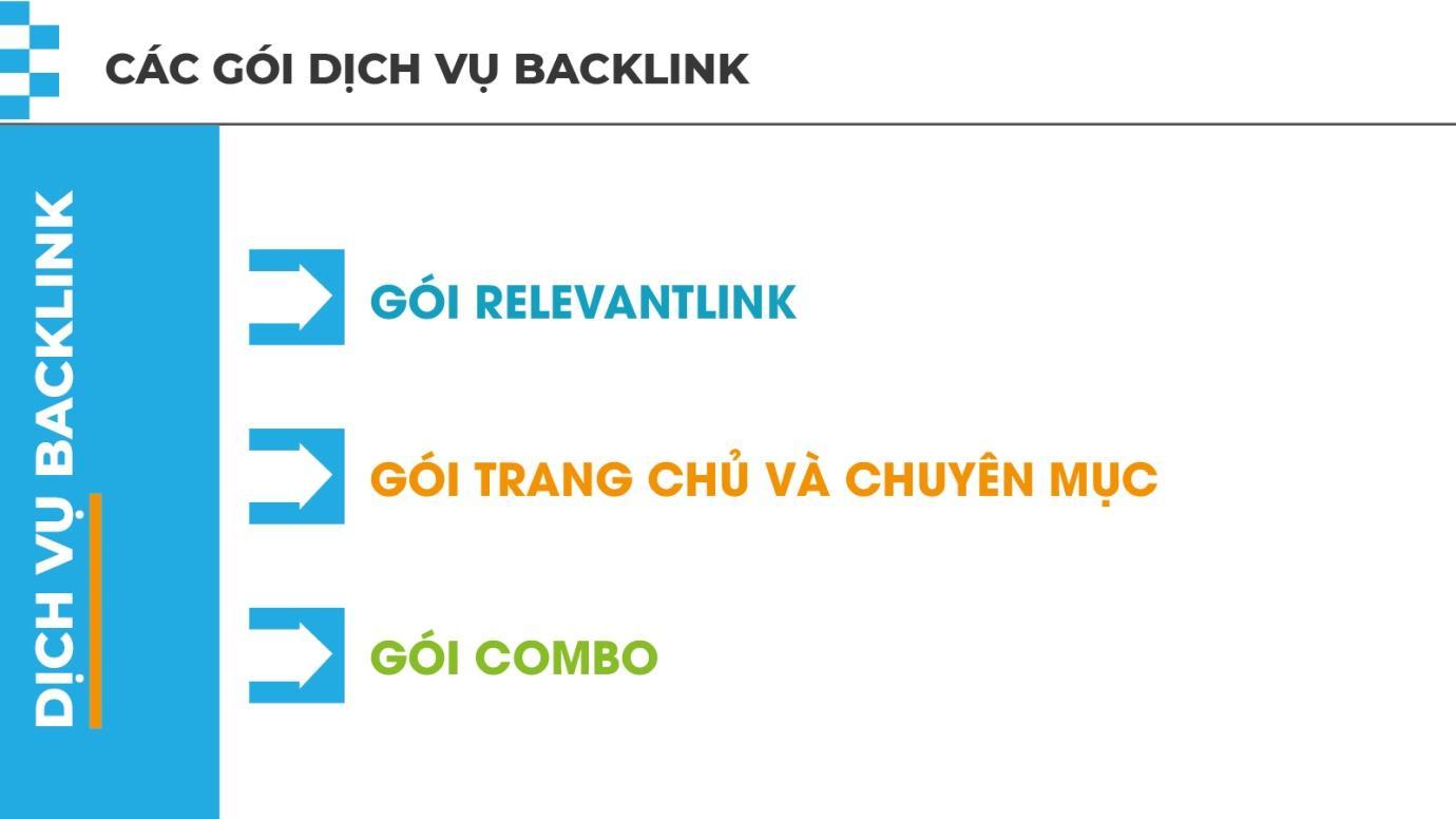 Các nhóm dịch vụ của backlinks