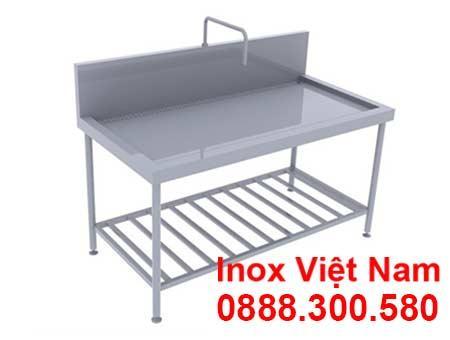 Bàn Bếp Inox Có Vòi Nước | Bàn Inox 304, Bàn Bếp Inox Công Nghiệp