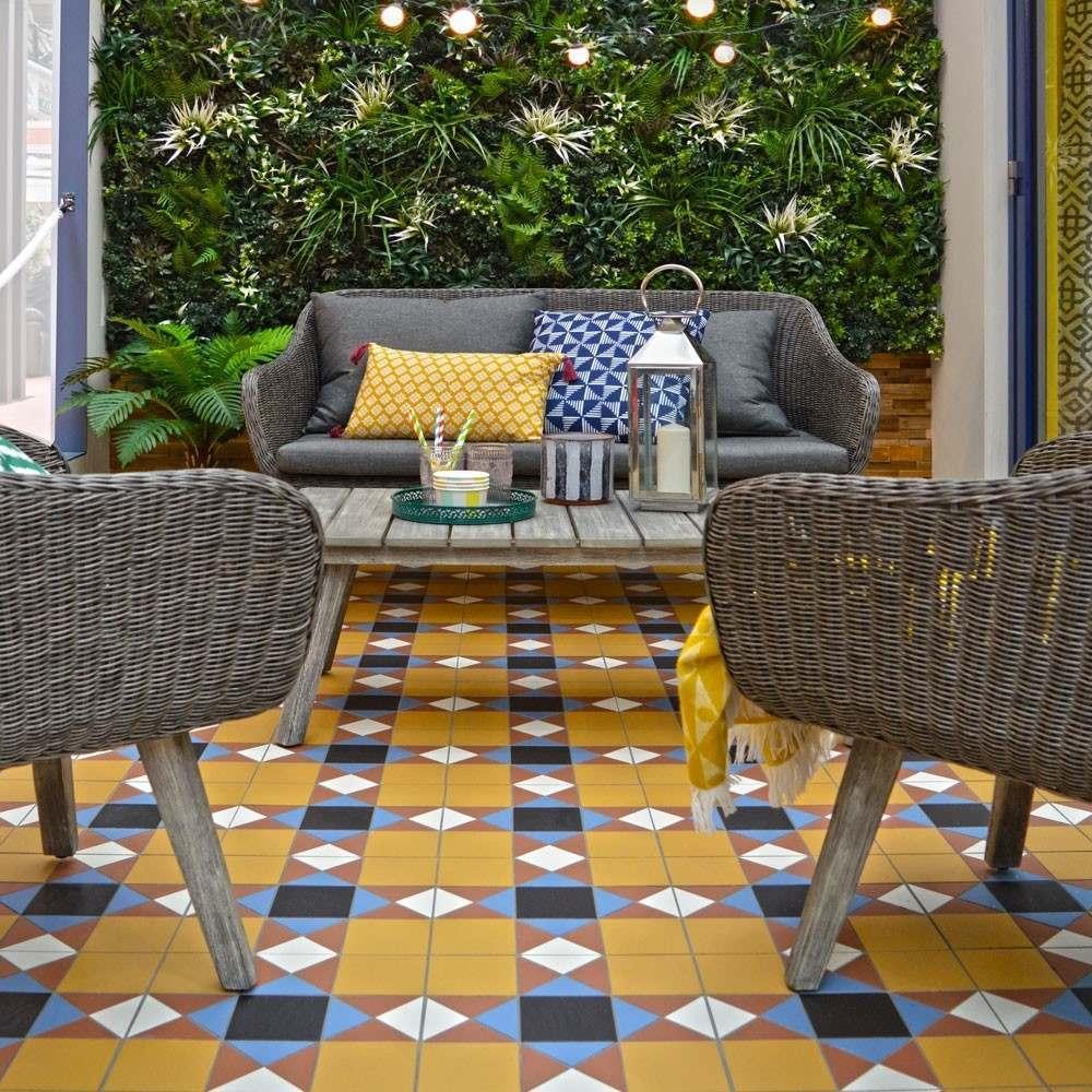 Bold Yellow Outdoor Tiles