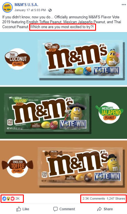 m&ms facebook qualitative research