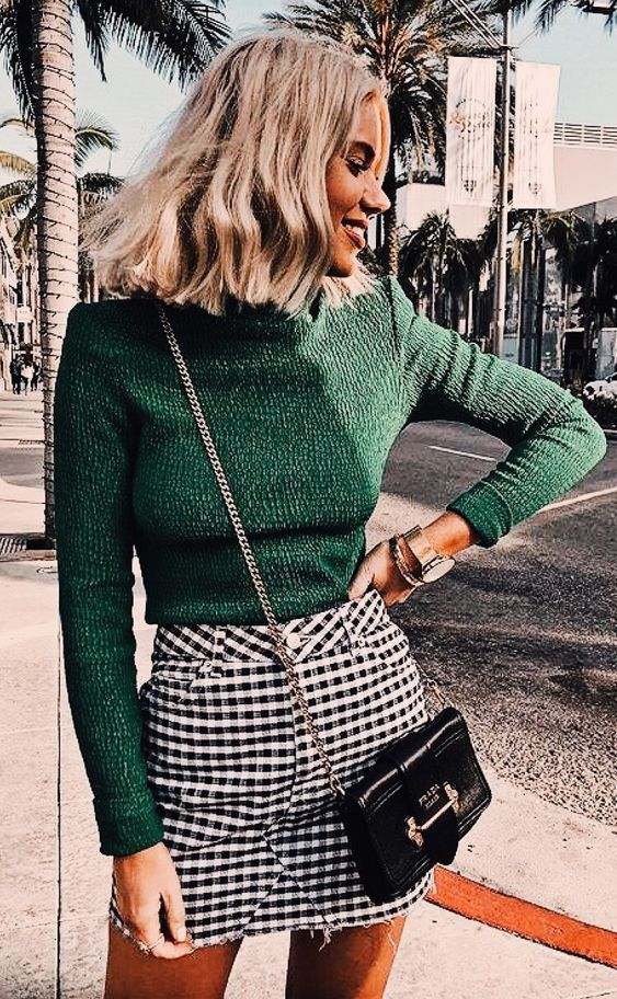 love this bright color pop on the sweater