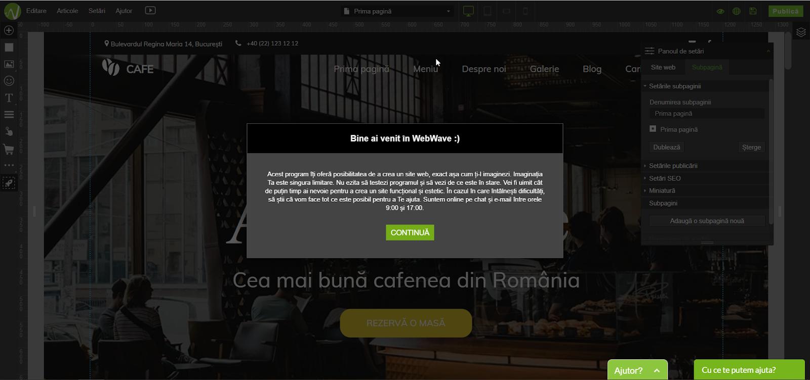 creare site gratuit