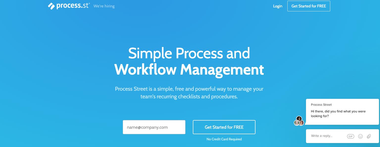 Process Street - Digital Marketing process management