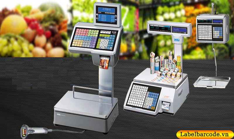 Cân điện tử trong siêu thị và giấy in tem cân điện tử cho từng loại model cân