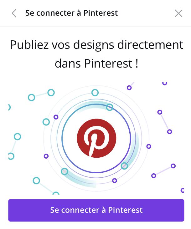 Connecter Pinterest à Canva