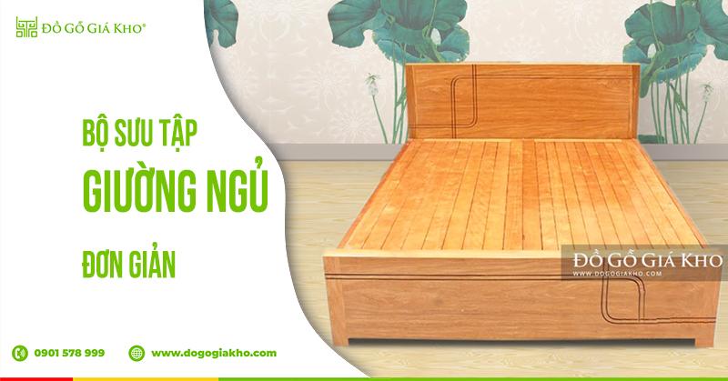 Bộ sưu tập giường ngủ đơn giản