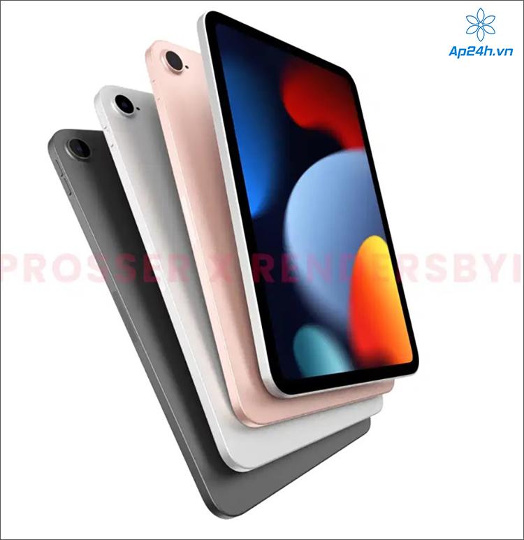 Hình ảnh rò rỉ cho thấy các tùy chọn màu sắc của iPad mini 6
