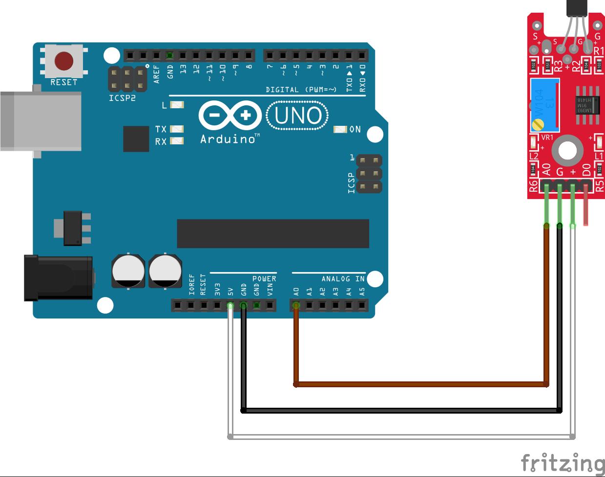 arduino to hall effect sensor