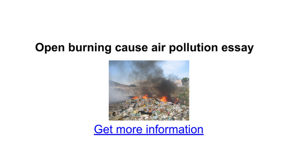 "air pollution short essay 7 Free essay: air pollution the major pollution caused by factories or industrials' activities is air pollution according to the engineers' joint council ""air."