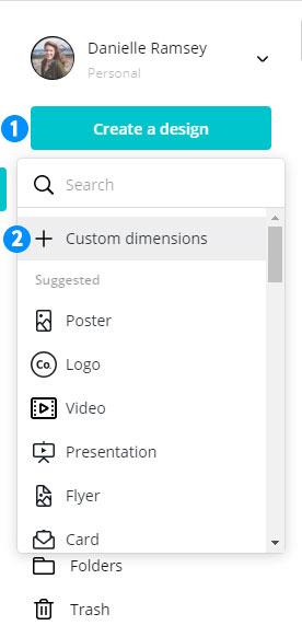 Create Custom Dimensions Design in Canva