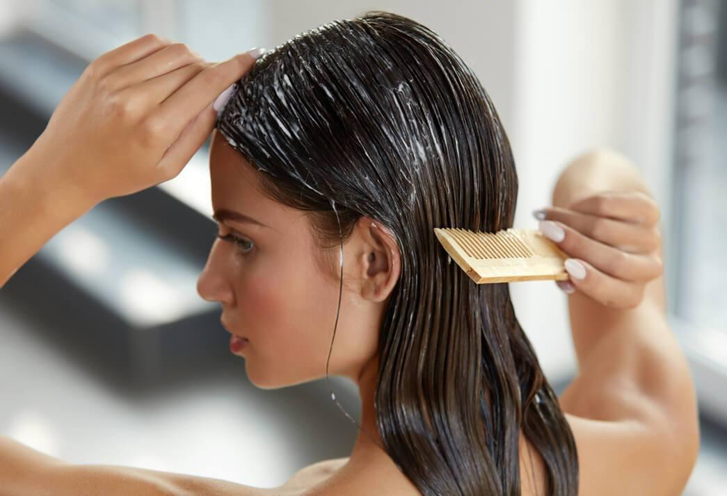 Image result for applying hair products