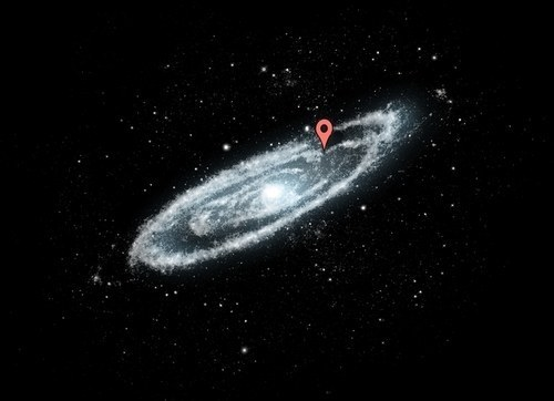 That's because the Milky Way galaxy is huge. This is where you live inside there: