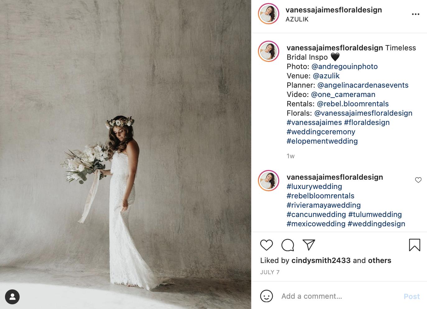 flower crown instead of wedding veil