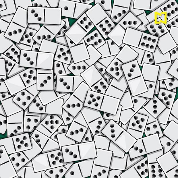 Coloque as quatro mulas zero entre os dominós.  (Televisa)