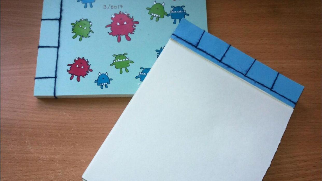 japanese stitch book spine