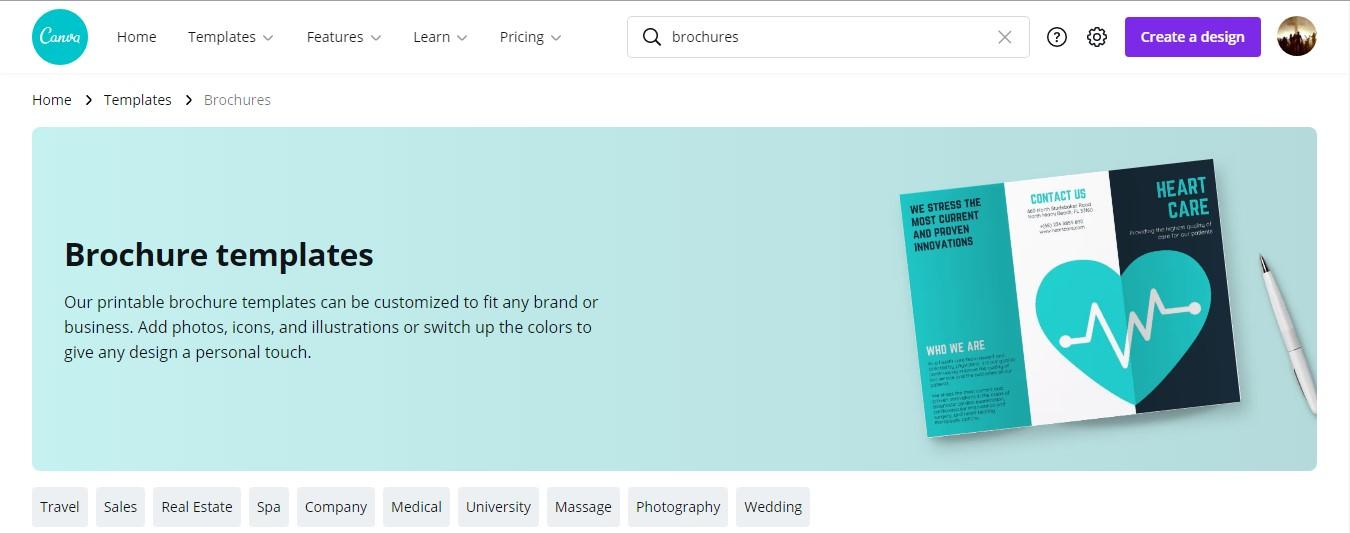 Canva the best free brochure maker software for marketers and small business owners