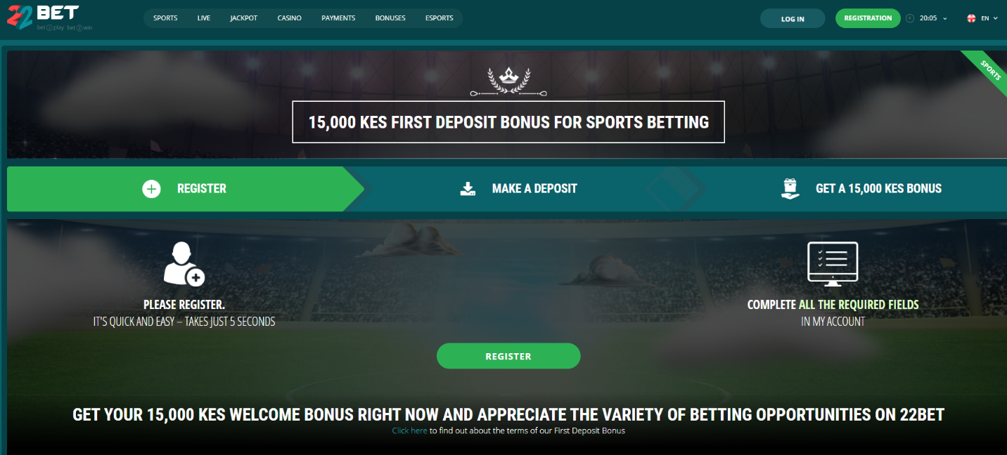 22Bet Welcome Bonus Screenshot