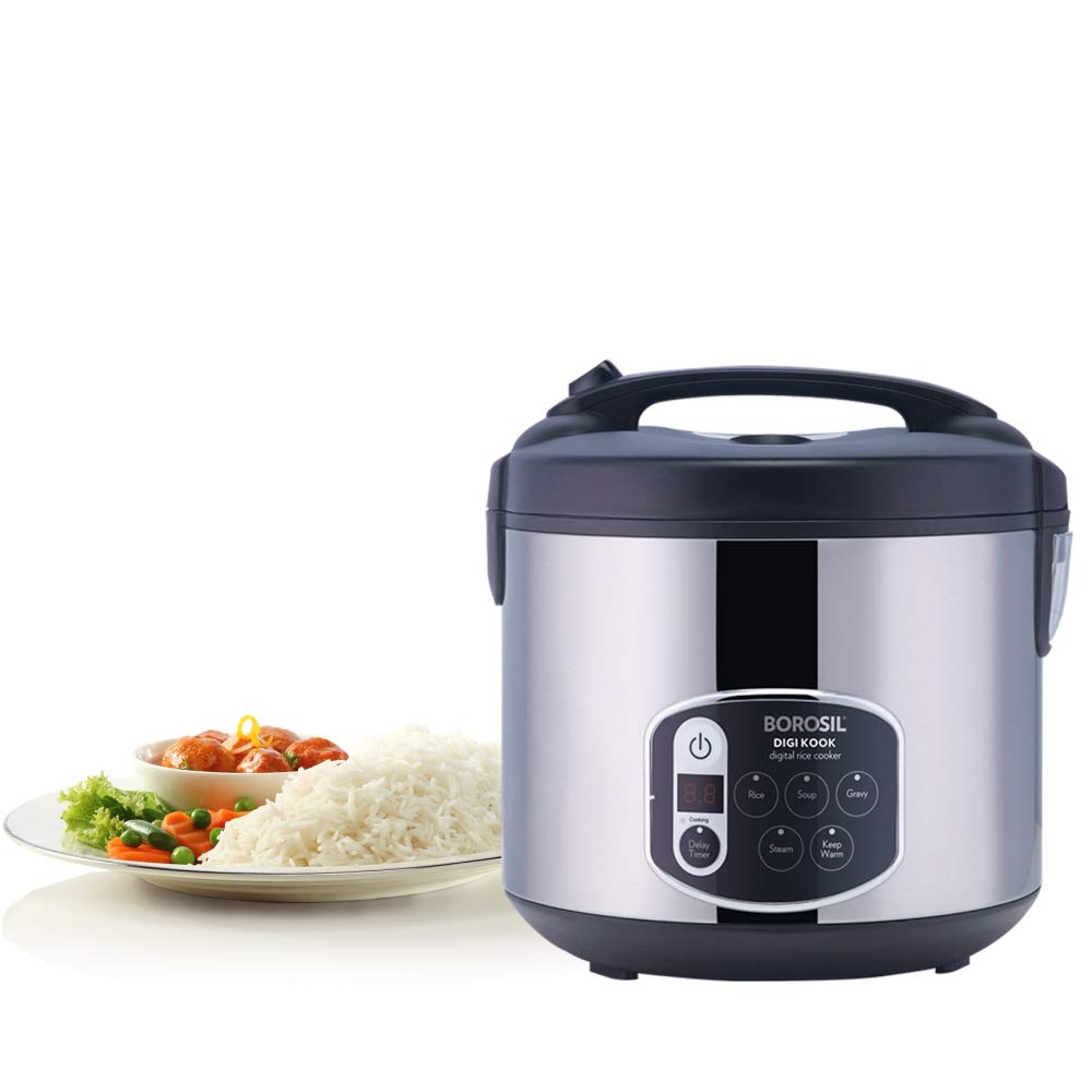 Borosil BRC18LDSS11 1.8-Liters Electric Rice Cooker