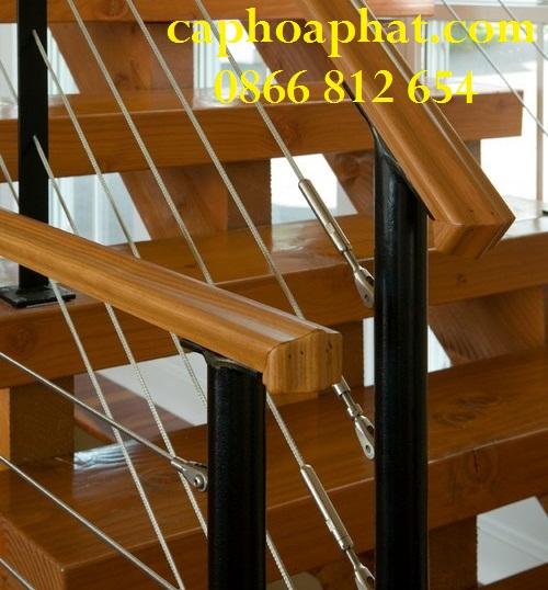 Dây cáp cầu thang là cáp inox 304 có độ bền và chịu lực cao